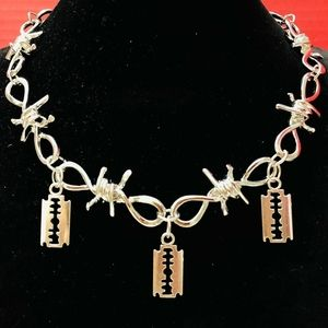 The Razors Barbed Wire Choker Necklace for Unisex